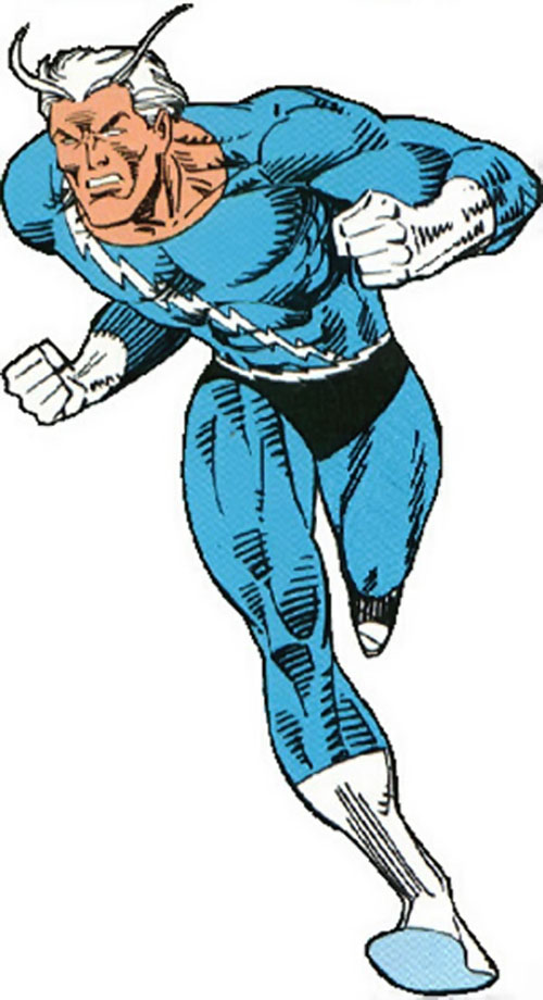 Quicksilver (Marvel Comics) in the classic sky blue costume