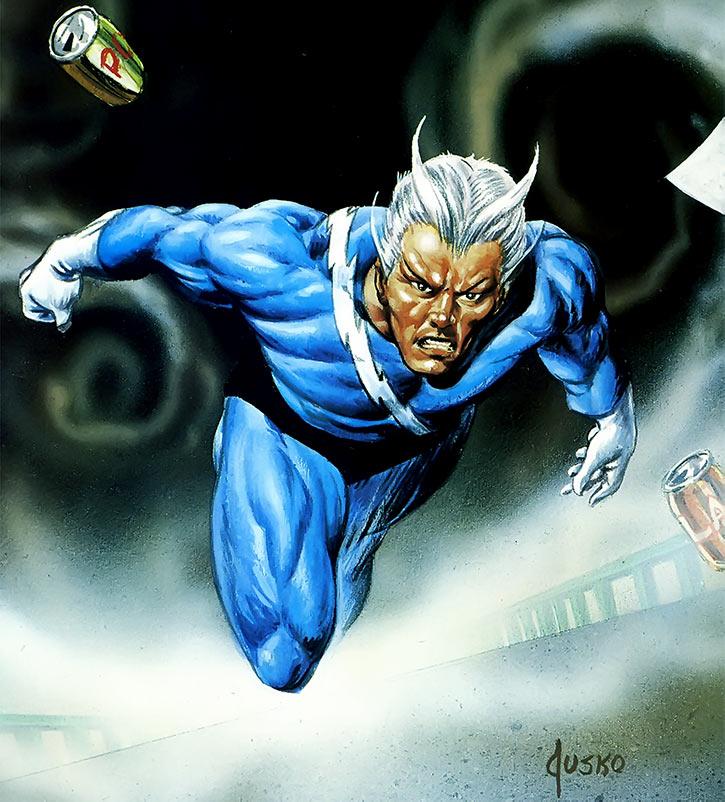 Quicksilver (Marvel Comics) Joe Jusko masterpieces painting