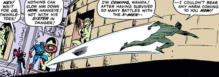 Quicksilver (Pietro Maximoff) with Hawkeye and Captain America