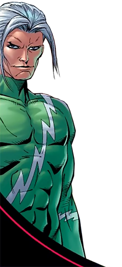 Ultimate Quicksilver (Marvel Comics) in green