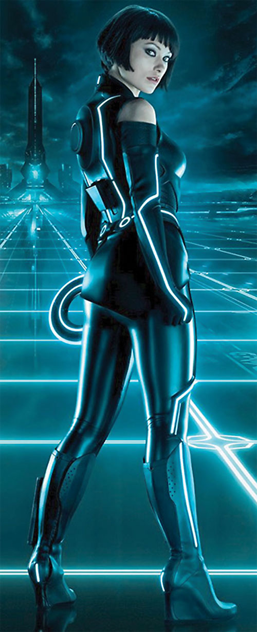 Quorra (Olivia Wilde in Tron: Legacy) in the Grid