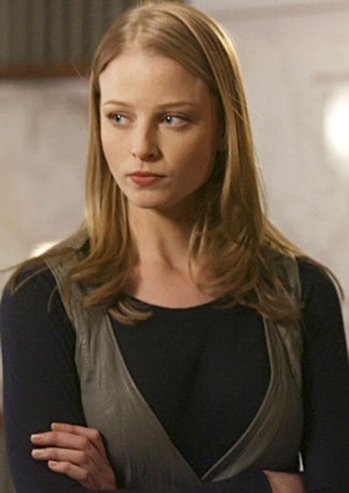 Rachel Gibson (Rachel Nichols in Alias) looking anxious