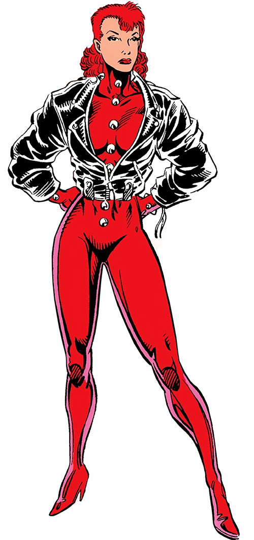 Rachel Summers (Marvel Comics) as the Phoenix in Excalibur - Leather jacket costume