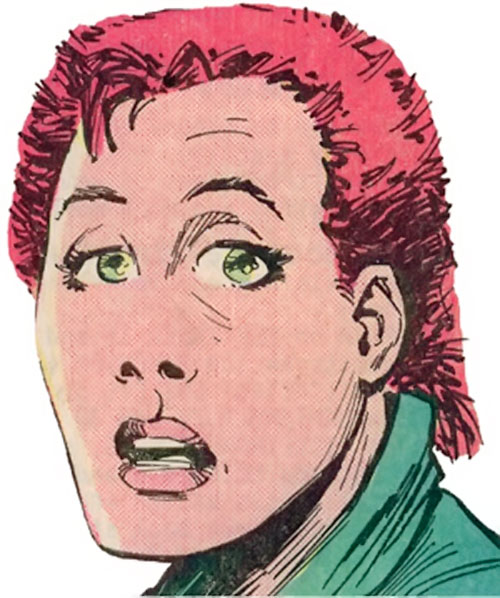 Rachel Summers of the X-Men (Marvel Comics) face closeup