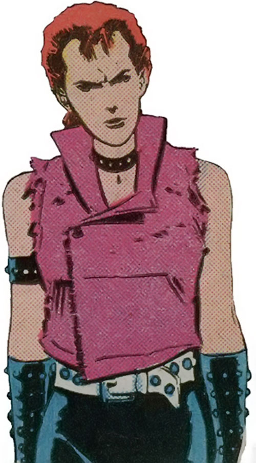 Rachel Summers of the X-Men (Marvel Comics) in a punk outfit