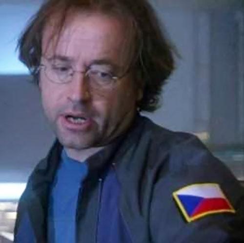 Radek Zelenka (David Nykl in Stargate Atlantis) with Czech flag patch