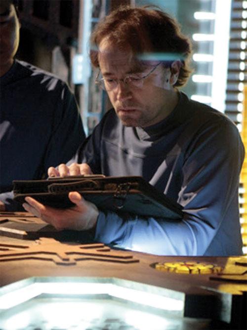 Radek Zelenka (David Nykl in Stargate Atlantis) working