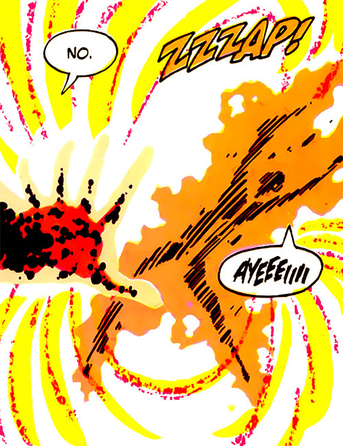 Radiation Roy (Legion of Super-Heroes enemy) (DC Comics) makes a radiation attack