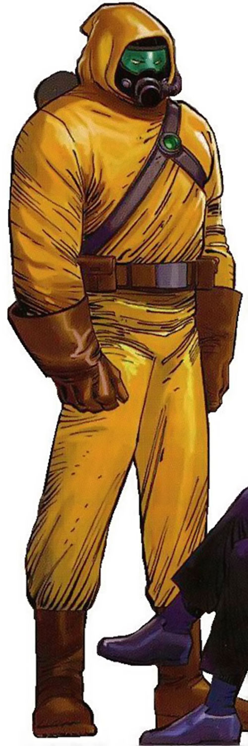 The Radioactive Man in a yellow radiation suit