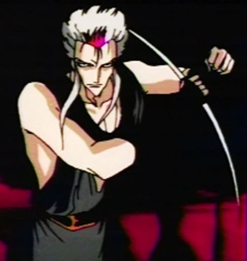 Ragansi aka Rei Ginsen aka Reiginsen (Vampire Hunter D enemy) with his weapon