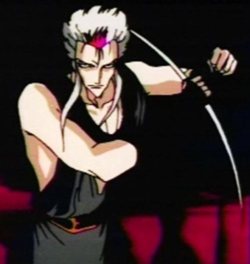Ragansi aka Rei Ginsen aka Reiginsen (Vampire Hunter D enemy) with his weapon