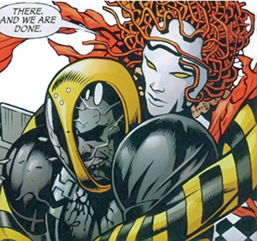Ragdoll of the Secret 6 (DC Comics) vs. an HIVE soldier