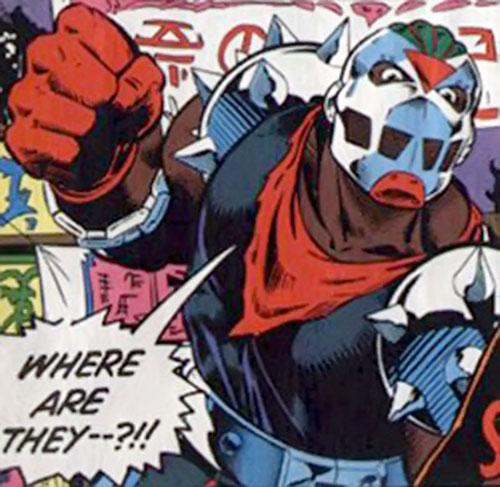 Rage (Marvel Comics) being threatening
