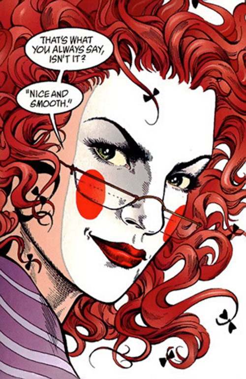Ragged Robin face and makeup closeup