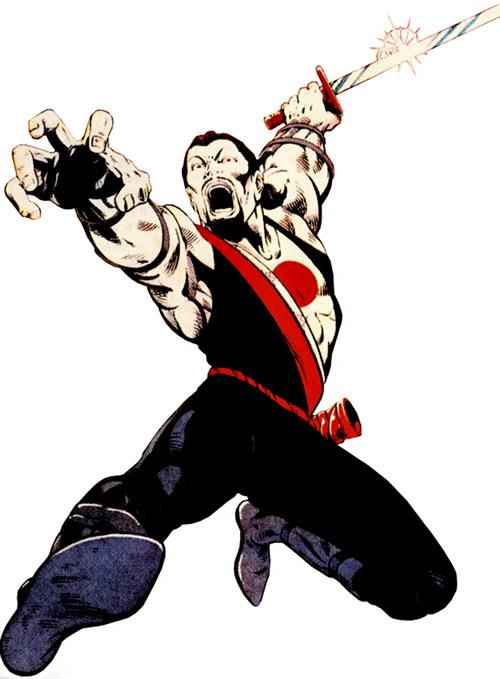 Rai (Valiant Comics 1990s) (Takao Konishi) leaping sword attack