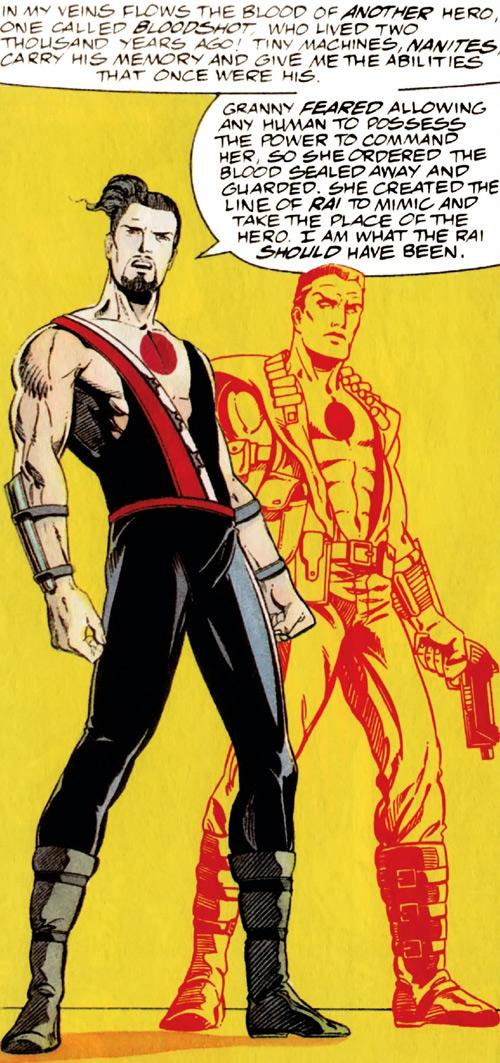 Rai (Valiant Comics 1990s) (Takao Konishi) and Bloodshot