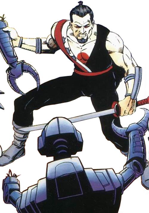 Rai (Valiant Comics 1990s) (Takao Konishi) severed robot arm