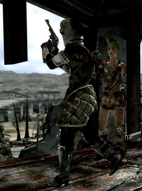 Fallout 3 raider - female duo with revolvers