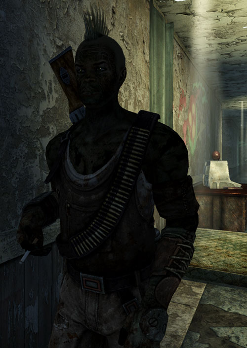 Fallout 3 raider - smoking in shadows