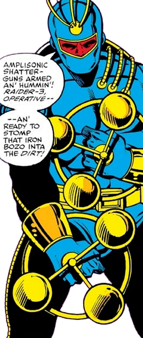 Raiders (Iron Man enemies) (Marvel Comics) shatterguns