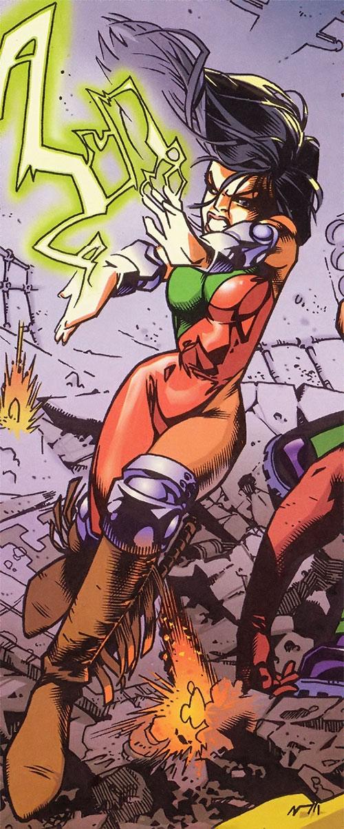 Sarah Rainmaker (Gen 13) (Image Comics) shooting lightning
