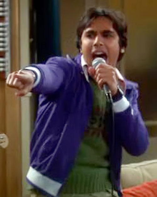 Rajesh Koothrappali (Kunal Nayyar in Big Bang Theory) singing