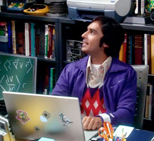 Rajesh Koothrappali (Kunal Nayyar in Big Bang Theory) working