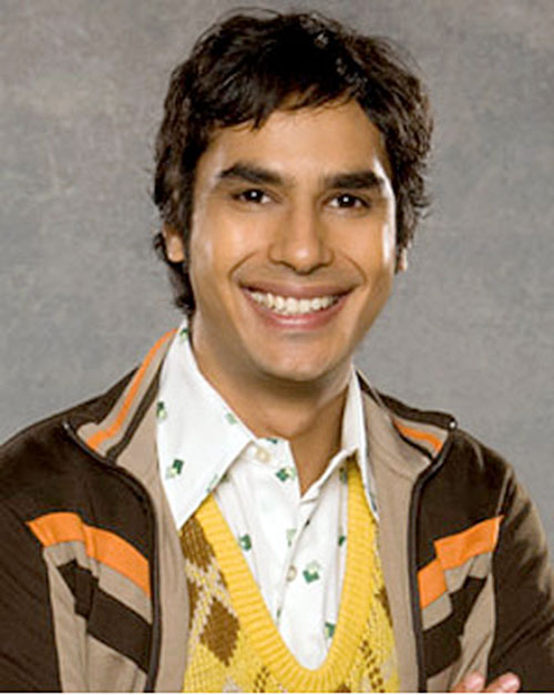 Rajesh Koothrappali (Kunal Nayyar in Big Bang Theory)