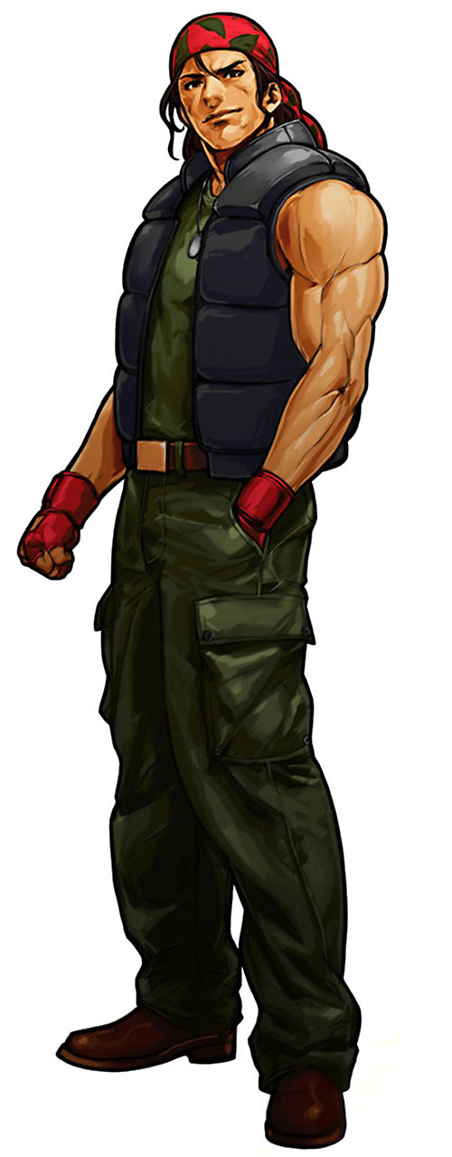 Ralf Jones (King of Fighter) with a hand in his pocket
