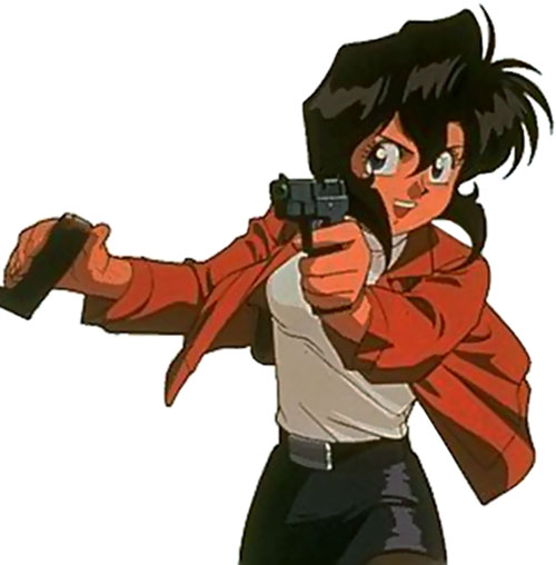 Rally Vincent (Gunsmith Cats) pointing her pistol