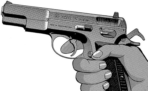 Rally Vincent (Gunsmith Cats)'s signature CZ 75