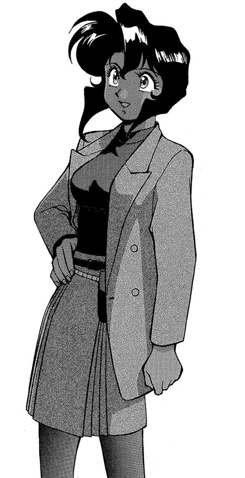 Rally Vincent (Gunsmith Cats) with a skirt and a long jacket