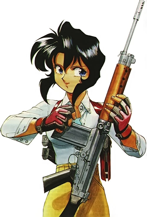 Rally Vincent (Gunsmith Cats) loading a FN-FAL