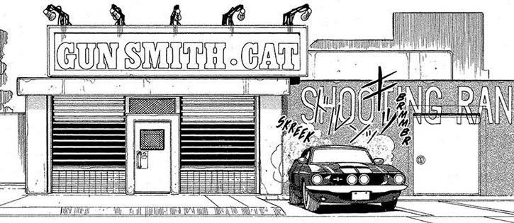 Rally Vincent's Gunsmith Cat weapons shop