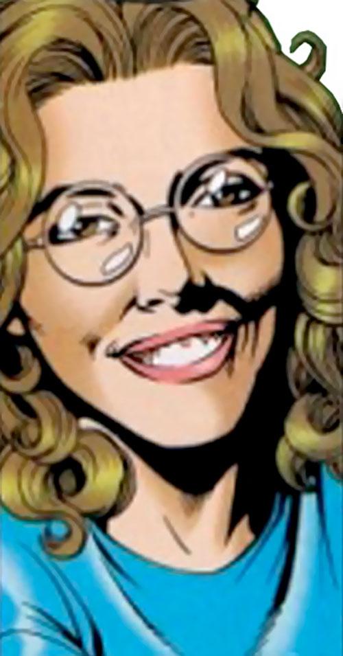 Kitty Faulkner face closeup (Superman character) (DC Comics)