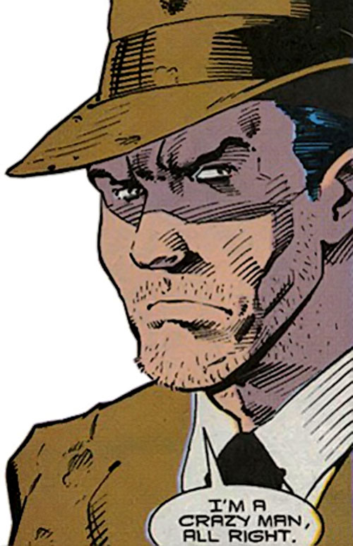 Rampage (Clarke) (Marvel Comics) face closeup with hat