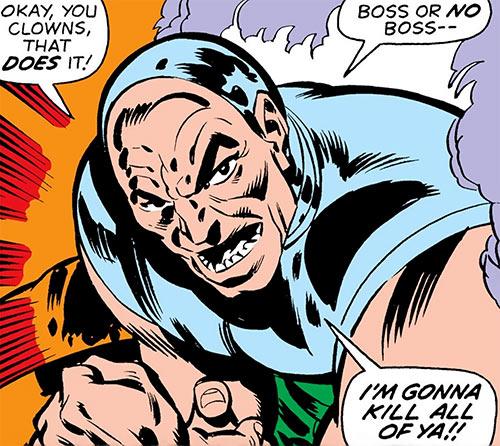 Ramrod II (Marvel Comics cyborg) face closeup
