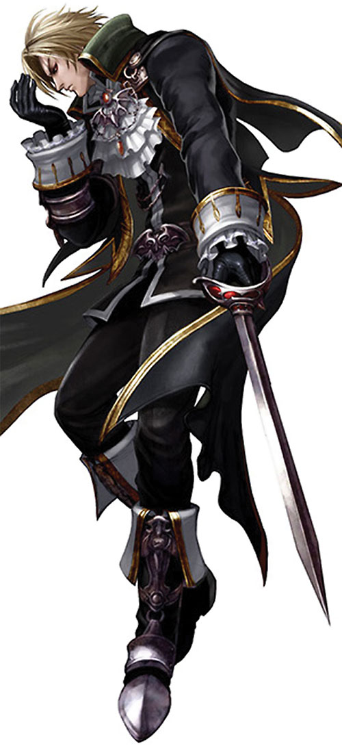 Raphael Sorel (Soul Calibur) in black and gold