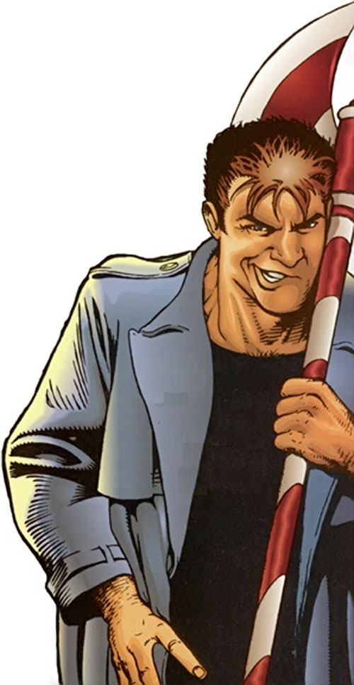 Rascal of Strikeback! (Bravura / Image comics) with his scarf as a large axe