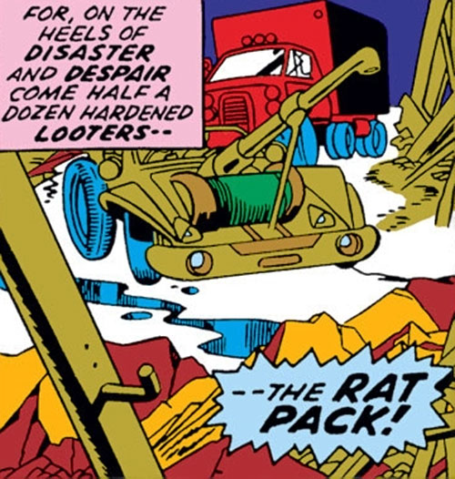 Rat Pack (Captain Marvel enemies) (Marvel Comics) vehicles