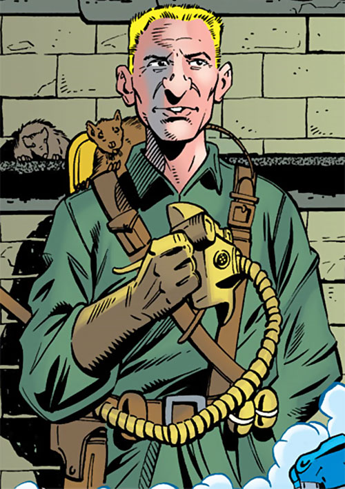 Ratcatcher (Batman & Robin enemy) (DC Comics) taking his mask off