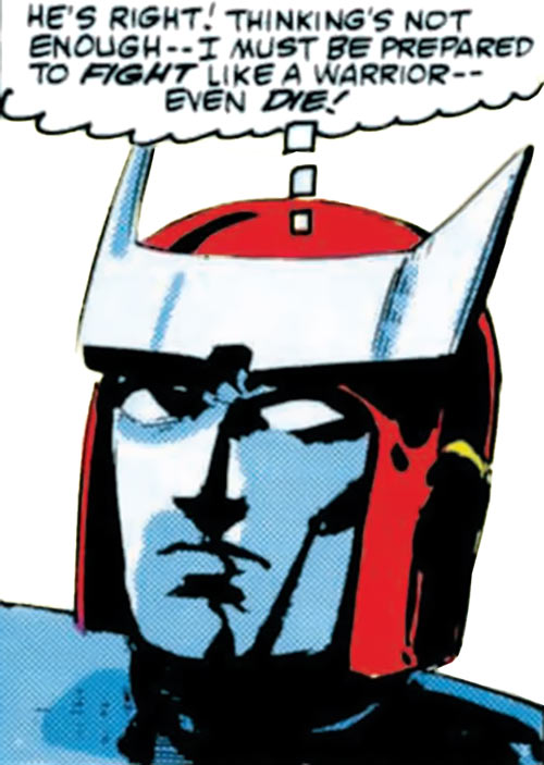 Ratchet of the Transformers (1980s Marvel Comics) face closeup