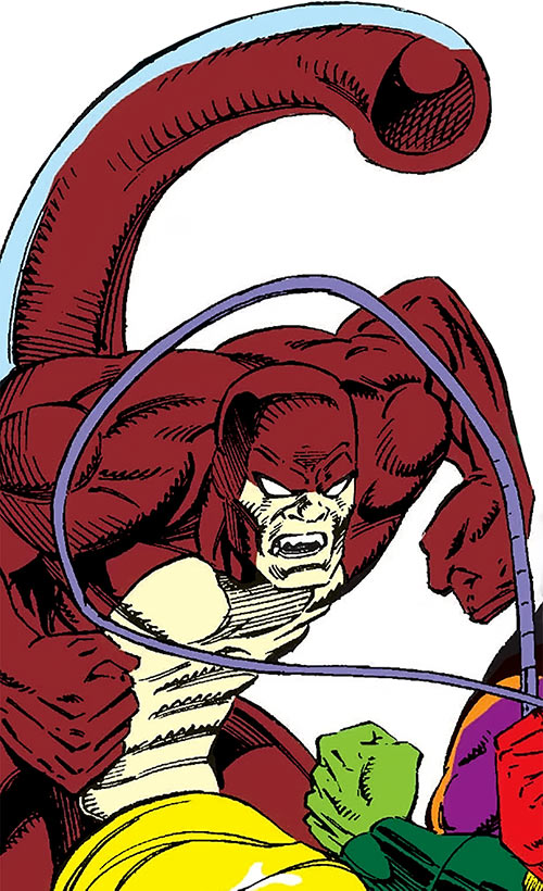 The Rattler (Serpent Society) in battle