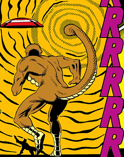 The Rattler (Serpent Society) using his tail