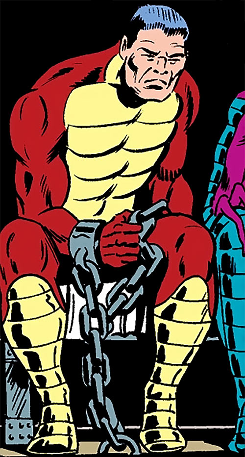 The Rattler (Serpent Society) without his mask