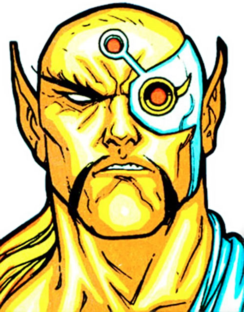 Raza of the Starjammers (Marvel Comics, X-Men) face closeup