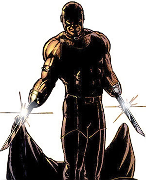 Razor-Fist II (Marvel Comics) shedding his coat