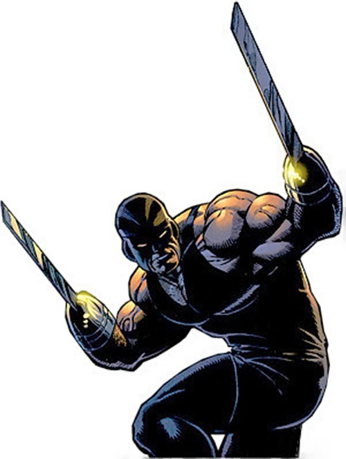 Razor-Fist II (Marvel Comics) turning to face an opponent