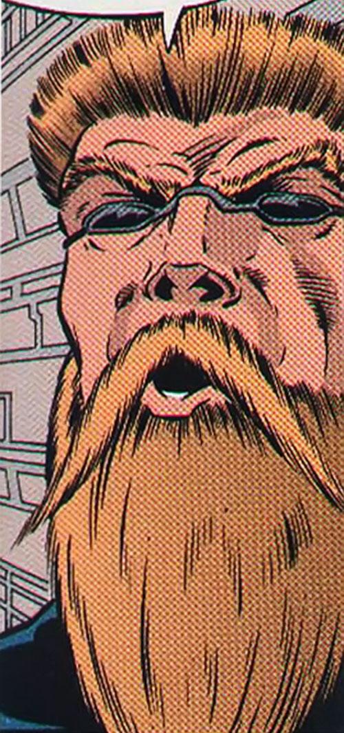 Razorwire (Spider-Man . Cage enemy) (Marvel Comics) face closeup