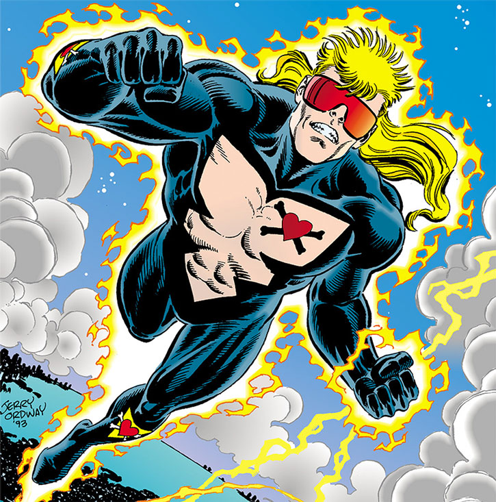 Rebel flying by Jerry ordway